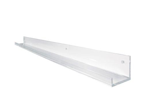 SIGEL GA110 Galerieboard / Regalboard / Ablageboard 100 cm, Acryl glasklar - auch in 50 cm