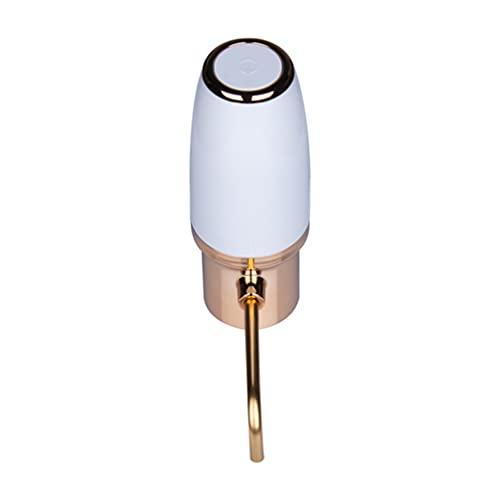 Luxshiny 1 Juego de Aireador de Vino Eléctrico Surtidor de Caño Recargable Decantador de Vino Portátil de Un Toque para El Dispensador Automático de Oxidante de Vino Tinto Y
