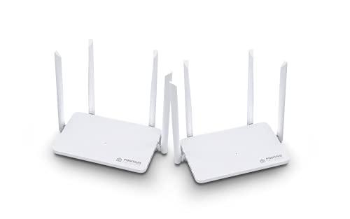 Kit Smart Roteador Mesh Wi-Fi Fast Positivo Casa Inteligente, cobertura de até 400 m², beamforming, suporta até 128 dispositivos, sem pontos cegos, Bivolt.