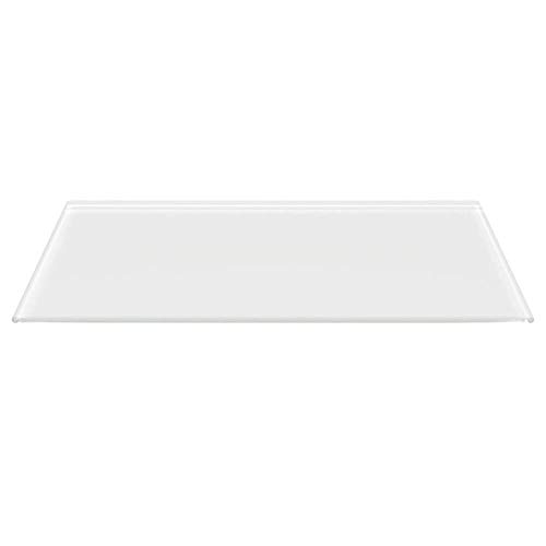 Rechteck *Frosty* 120x60cm - Kamin-Vorlegeplatte Milchglas Funkenschutzplatte Kaminbodenplatte Glasplatte (Rechteck *Frosty* 120x60cm - ohne Dichtung)