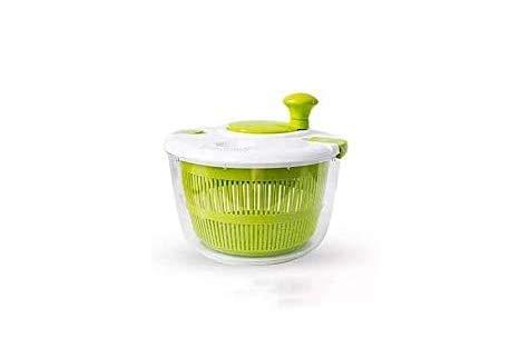 KAREN Küchengeräte Salatschleuder Gemüse, Salatwaschmaschine und Trockner - Einfaches Wasserablasssystem und kompakte Lagerung zum Waschen Trocknen von Blattgemüse Küchenzubehör