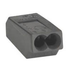 WAGO Verbindungsdosenklemmen 2 x 1,0 - 2,5mm² dunkelgrau Serie 273 (VPE=100)