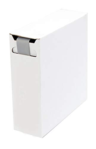 Schrumpfschlauch Isolierschlauch 2:1 (D=25,4mm/d=12,7mm) Länge 5 m Grau in praktischer Spender Box