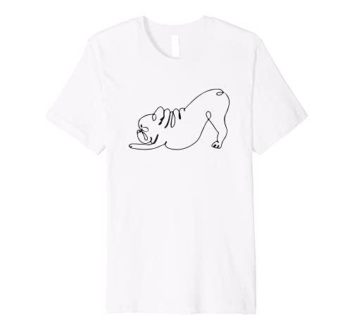 French Bulldog Yoga Pose Funny Frenchie Yoga Puppy exercises Premium T-Shirt