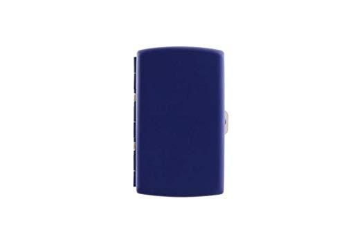 Portasigarette in metallo con rivestito in gomma colorata Porta HEETS e Sigarette Classiche (Blu)