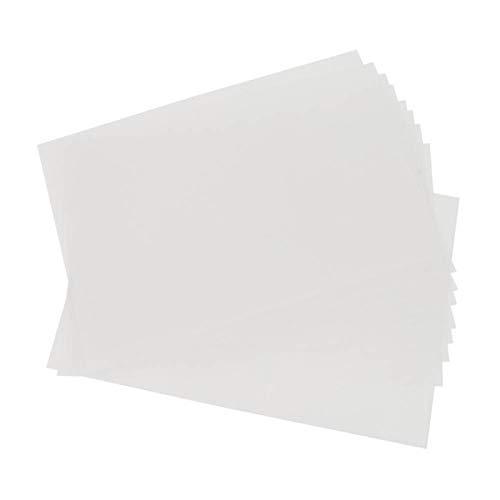 SALUTUYA 10 Hojas Shrinky Dinks, fáciles de Usar, para Adornos de Bricolaje,(0.3mm-Translucent Fine Grinding 20x29cm)