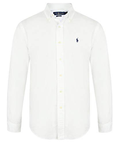 Ralph Lauren Herren Slim Fit Hemd (Weiß, L)
