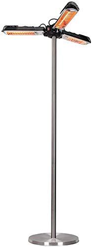 zyl Calentador de Patio eléctrico montado en sombrilla/Calentador de Patio eléctrico para Exterior Interior/Diseño de Ajuste de 3 velocidades/Calentador de Patio eléctrico Impermeable de p