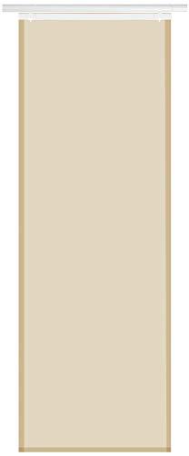 Bestlivings Panel japonés Elena (ancho x alto) 60 x 260 cm, cortina corredera transparente, en muchos colores