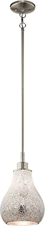 Kichler 65407 Crystal Ball Mini Pendant 1-Light, Brushed Nickel