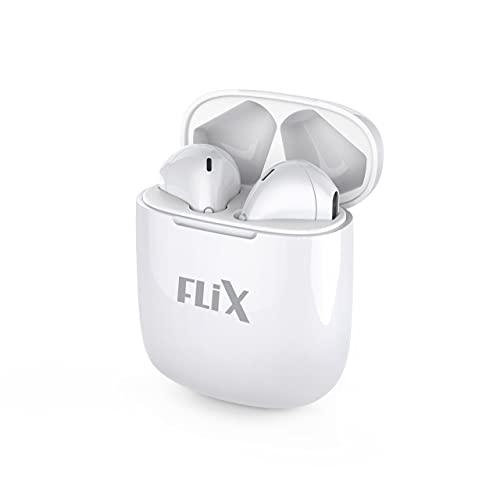 FLiX (Beetel) Breeze Bluetooth v5.0 True Wireless Earbuds with Mic,IPX4 Splash Proof, in Ear Bass Experience,Upto 12Hrs Playtime,Low Latency Mode, Lightweight (White)(XTW-T201)