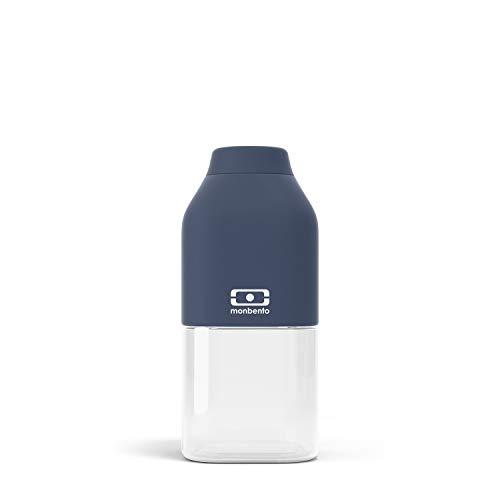 monbento - MB Positive Trinkflasche bpa frei - Tritan Trinkflasche (S (330ml), Blau Infinity)