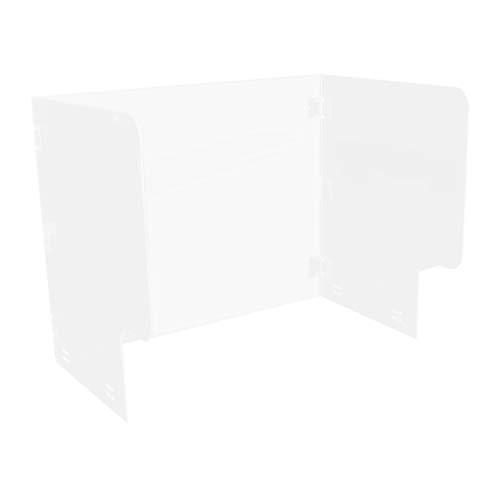 EXCEART Tischtrennwand Acryl Privatsphäre Lärm Paravent Spritzschutz Hustenschutz für Schreibtisch Büros Arbeitsstätten Arbeitsplatte Restaurant Schule Kantine