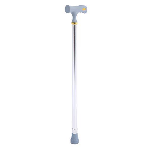 【Especial de Año Nuevo 2021】Taidda Bastón, bastón de aleación de Aluminio Altura de 10 Niveles Cobre/Plata Opcional Ajustable Antideslizante Bastón de Seguridad para Anciano de Metal(24-38inch-Plata)