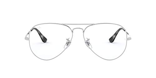Ray-Ban 0RX6489, Monturas de Gafas Unisex adulto, Marrón (Silver), 55