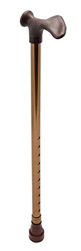 Gehstock mit anatomischen Griff, rechts, bronze