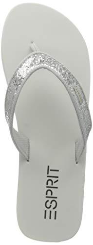 Esprit Damen 031EK1W319 Flipflop, 101/WHITE 2, 39 EU