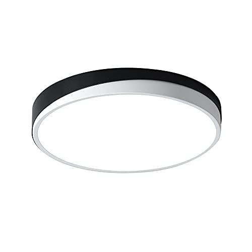 SDFDSSR Lámpara de Techo Moderna Simple en Blanco y Negro lámpara de Techo empotrada LED Ultrafina de 2 Pulgadas lámpara de Techo de Estudio de Temperatura de 3 Colores lámpara de Techo decoración
