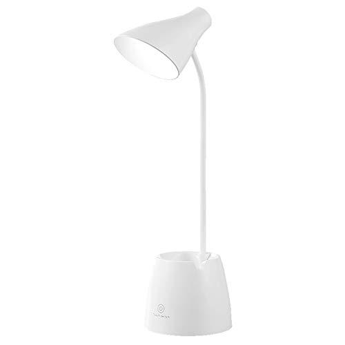 LITINGT Lámpara de escritorio, creativo, recargable, enchufable, doble uso, temperatura de tres colores ajustable, apto para dormitorio, oficina, escritorio