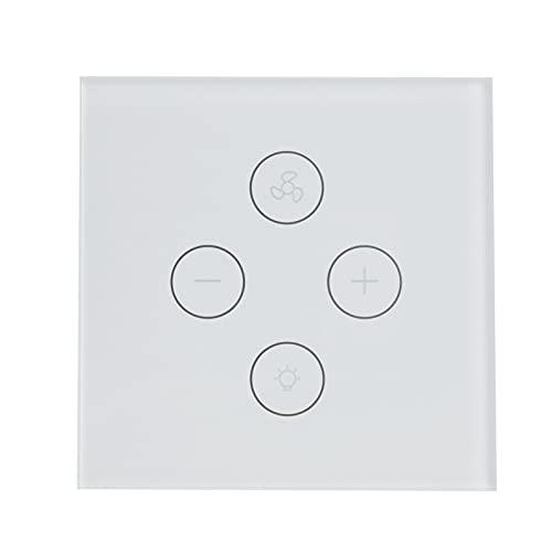 Interruptor De Ventilador, Control De Voz Manos Libres Control De Ventilador De Velocidad del Viento Interruptor De Ventilador De Diseño Ajustable para Equipos Domésticos