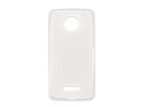 etuo Handyhülle für Lenovo Moto Z Force - Hülle FLEXmat Hülle - Weiß - Handyhülle Schutzhülle Etui Hülle Cover Tasche für Handy