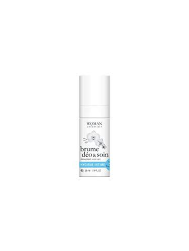 WOMAN ESSENTIALS BRUME DEO&SOIN - Deodorante Naturale Spray per uso intimo con efficacia fino a 24 ore - Pelle secca, sensibile o depilata - 35 ml - 99% Ingredienti Naturali.