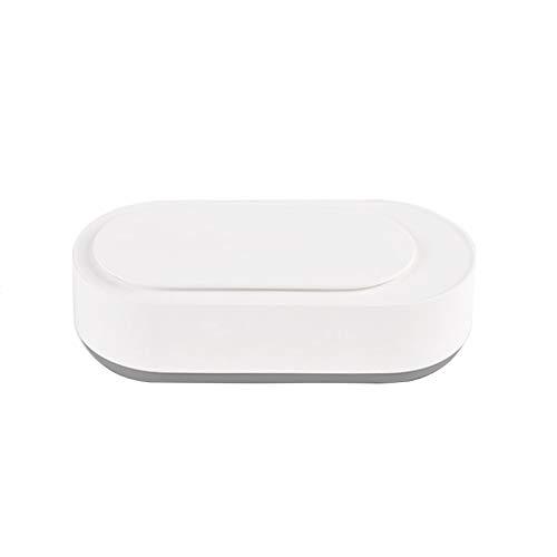 Limpiador ultrasónico limpiador de gafas portátil, 45000Hz, temporizador de 3 minutos, limpieza estéreo 360 °, 21.1x10.1x6cm adecuado para limpiar joyas, joyas, relojes, dentaduras postizas y aparat