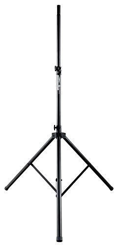 Pronomic SPS-3A Boxenstativ - Boxenständer aus Aluminium - extra große Standfläche - Sicherungssplint - ausziehbar von ca. 135-220 cm - bis 60 kg belastbar - schwarz