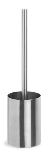 blomus -NEXIO- WC-Bürste aus mattiertem Edelstahl, Toilettenbürste freistehend, modernes Badaccessoire, hochwertiger Klobürstenhalter, Toilettengarnitur (H / B / T: 35 x 9 x 9 cm, Edelstahl, 68617)