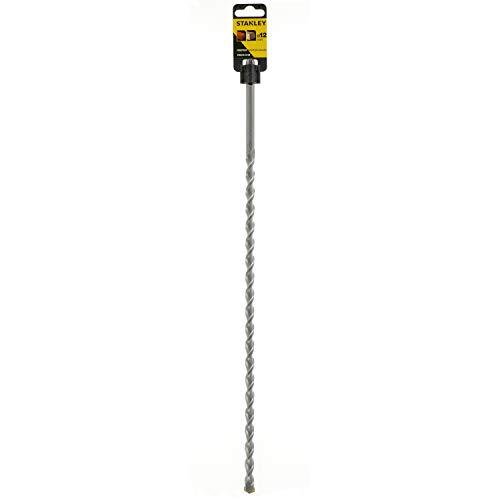 Stanley STA54122-QZ SDS-plus Hammerbohrer (12 mm Bohrerdurchmesser, 460 mm Gesamtlänge, 390 mm Spirallänge, geeignet für Beton, Granit, Mauerwerk, Klinker, etc.),...