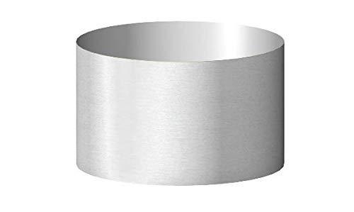 Lampenschirm-Trommel-Zylinder-Form-Hell-Grau-Silber Ø 40cm für Stehleuchten oder Hängelampen