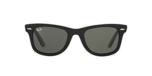 Ray-Ban unisex adult Rb2140 Original Wayfarer Sunglasses, Black/Green, 54 mm US