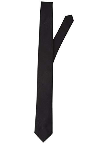 Jack & Jones JACCOLOMBIA Tie Noos Corbata, Negro (Black Detail/Solid), Talla única para Hombre
