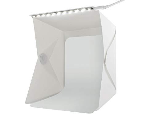 ISO TRADE Foto Lichtzelt Fotostudio Fotobox Fotozelt Faltbare mit LED 2 Hintergründe 5059