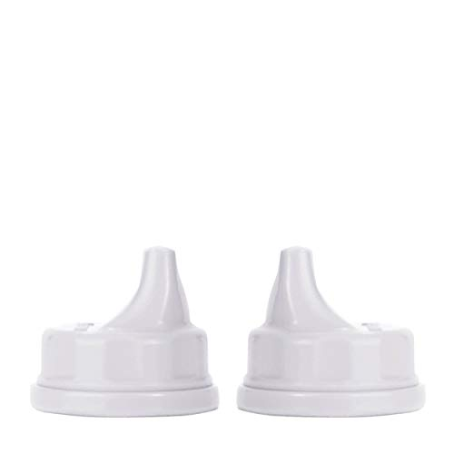 Lifefactory Sippy Caps für Glastrinkflaschen (120ml & 250ml), 2er Set, white