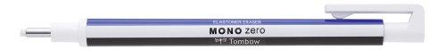Tombow EH-KUR Präzisionsradierer MONO zero nachfüllbar runde Spitze, Durchmesser 2.3 mm, weiß/blau/schwarz