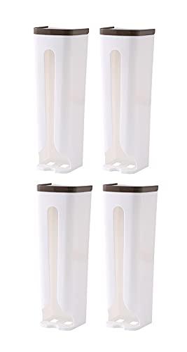 WBLTYKD 4 Paquete Bolsa De Basura Soporte Colgante Plástico Bolsa De Comestibles Dispensador Bolsa De Bolsa Organizador para Cocina para El Hogar con 8 Adhesivos Fuertes C