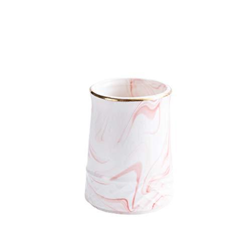 ZANZAN Pencil pot holder Ceramic Decorative Desktop Pen And Pencil Holder, Durable Desktop Office Supplies Organizer 4.3x3.1in desk supplies organizer (Color : Pink)