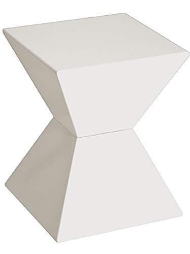 Haku Möbel Beistelltisch - moderner Tisch Hochglanz weiß Lack Höhe 43 cm