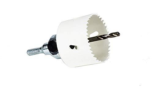 Ambeeld elektrische starterset - gatzaag 68 mm incl. 6-kantige opname - voor holle wanddoos, LED-spot, stopcontacten, gipskarton, hout