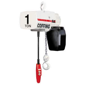 Coffing JLC Series Single Speed Electric Chain Hoist with Hook Mounted, 1000 lbs Capacity, 20' Lift Height, 16 fpm Lift Speed, 1/2HP, 230/460V/60Hz