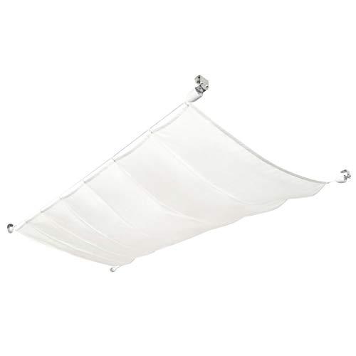 vidaXL Seilspann-Markise Komplettset UV-beständig Wasserbeständig Pergola Sonnenschutz Wintergarten Beschattung Terrasse Oxfordgewebe 140x270cm