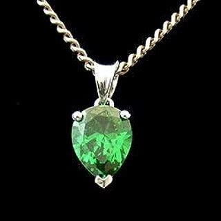 CrystalAge Siberian Quartz - Emerald & Silver Droplet Pendant (11mm)
