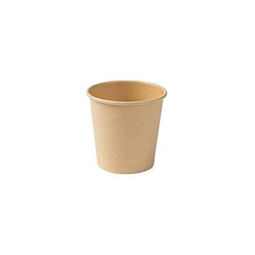 BIOZOYG Umweltfreundliche Kaffeebecher Pappbecher braun ungebleicht I Espressobecher Probierbecher Trinkbecher I 50 Stück Coffee to go Einwegbecher biologisch abbaubar 100 ml 4 oz