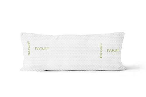 Soleil d'ocre Mémoire de Forme Traversin, Polyester, Blanc, 90 cm