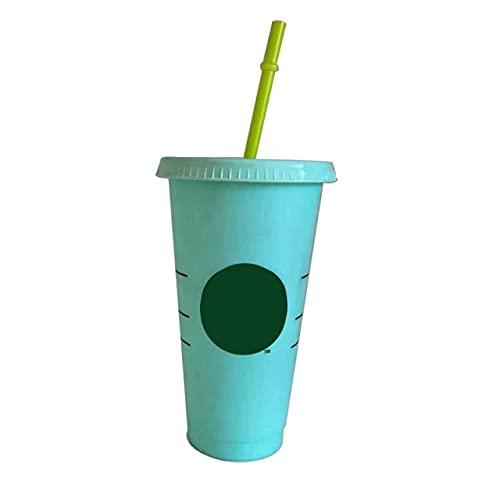 710Ml / 700Ml / 47L Tazza Di Paglia Con Coperchio Con Logo Tazza Di Caffè Che Cambia Colore Bicchieri Riutilizzabili Bicchiere Di Plastica Finitura Opaca Tazza Di Plastica