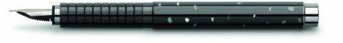 Faber-Castell Basic Füllfederhalter mit mittlerer Schreibfeder, Gehäuse in Perlmutt-Optik, Schwarz