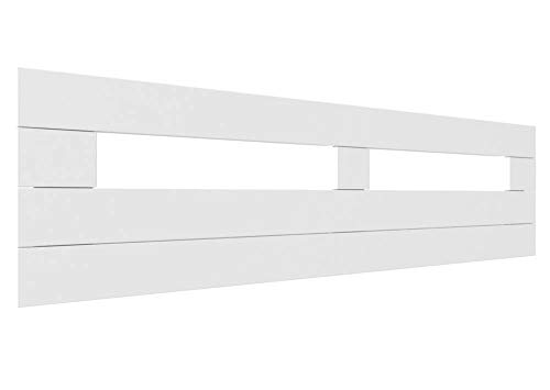 LA WEB DEL COLCHON - Cabecero de Madera Rústico Toscana para Cama de 135 (145 x 44 cms.) Blanco nórdico | Cabeceros Madera | Dormitorio Matrimonio | Cabezal Cama |Estilo nórdico