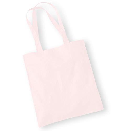 Westford Mill - Baumwoll-Tragetasche mit langen Henkeln / Pastel Pink, One