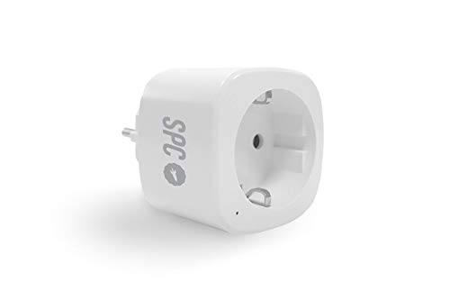 SPC Clever Plug Mini - Enchufe Inteligente Wi-Fi Compatible con Amazon Alexa y Google Home